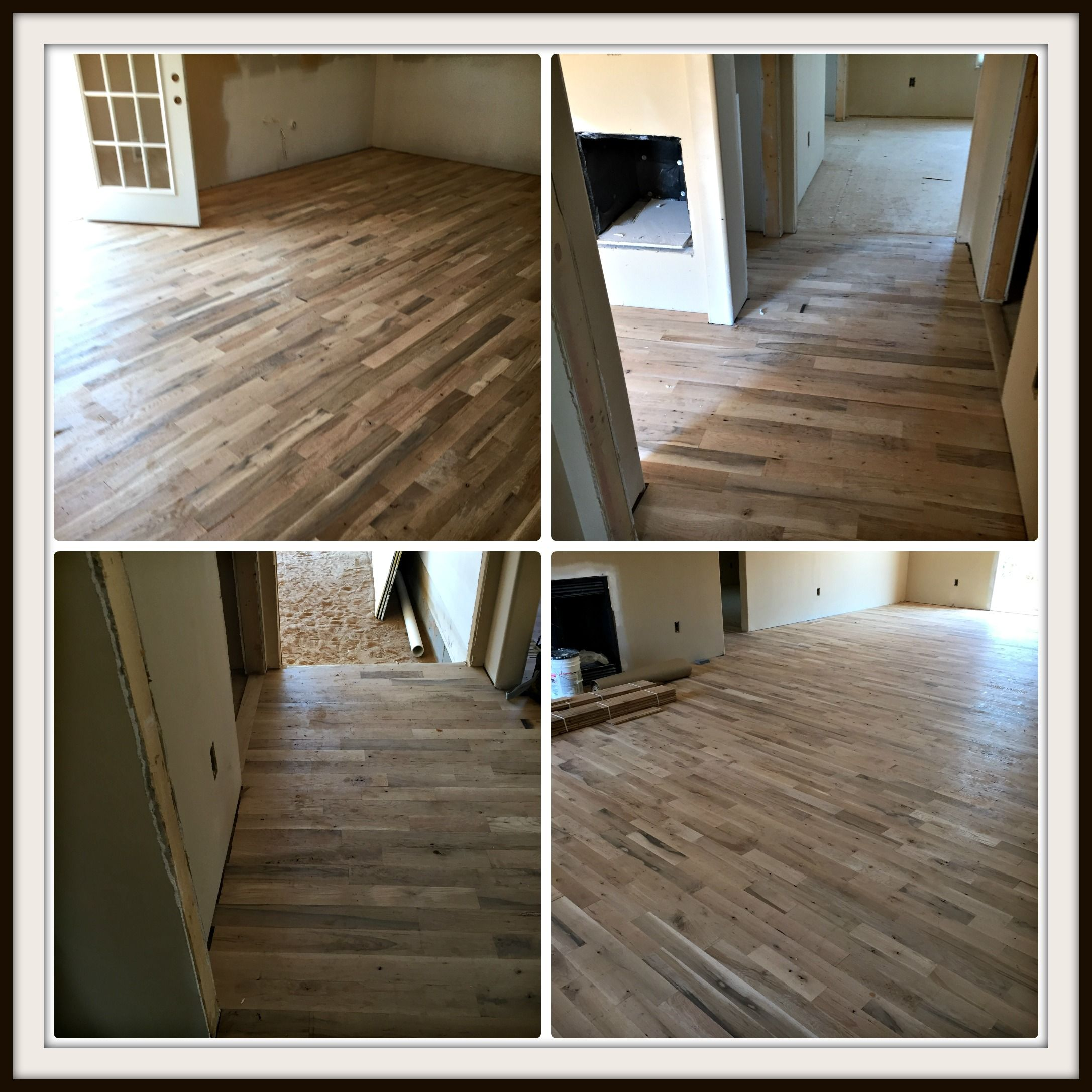 Sand And Finish Common Red And White Oak Mix Flooring