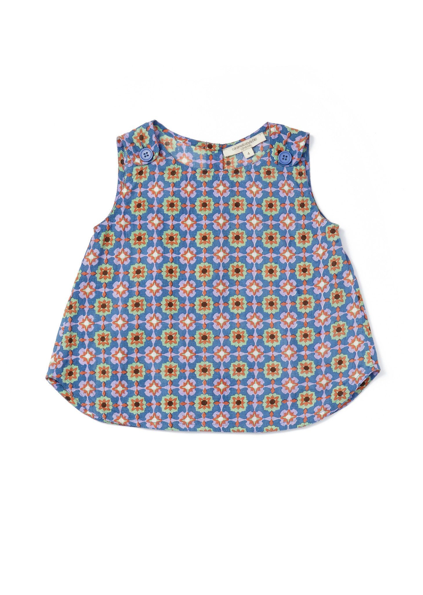 Orchid Block Print Top by Caramel Baby & Child