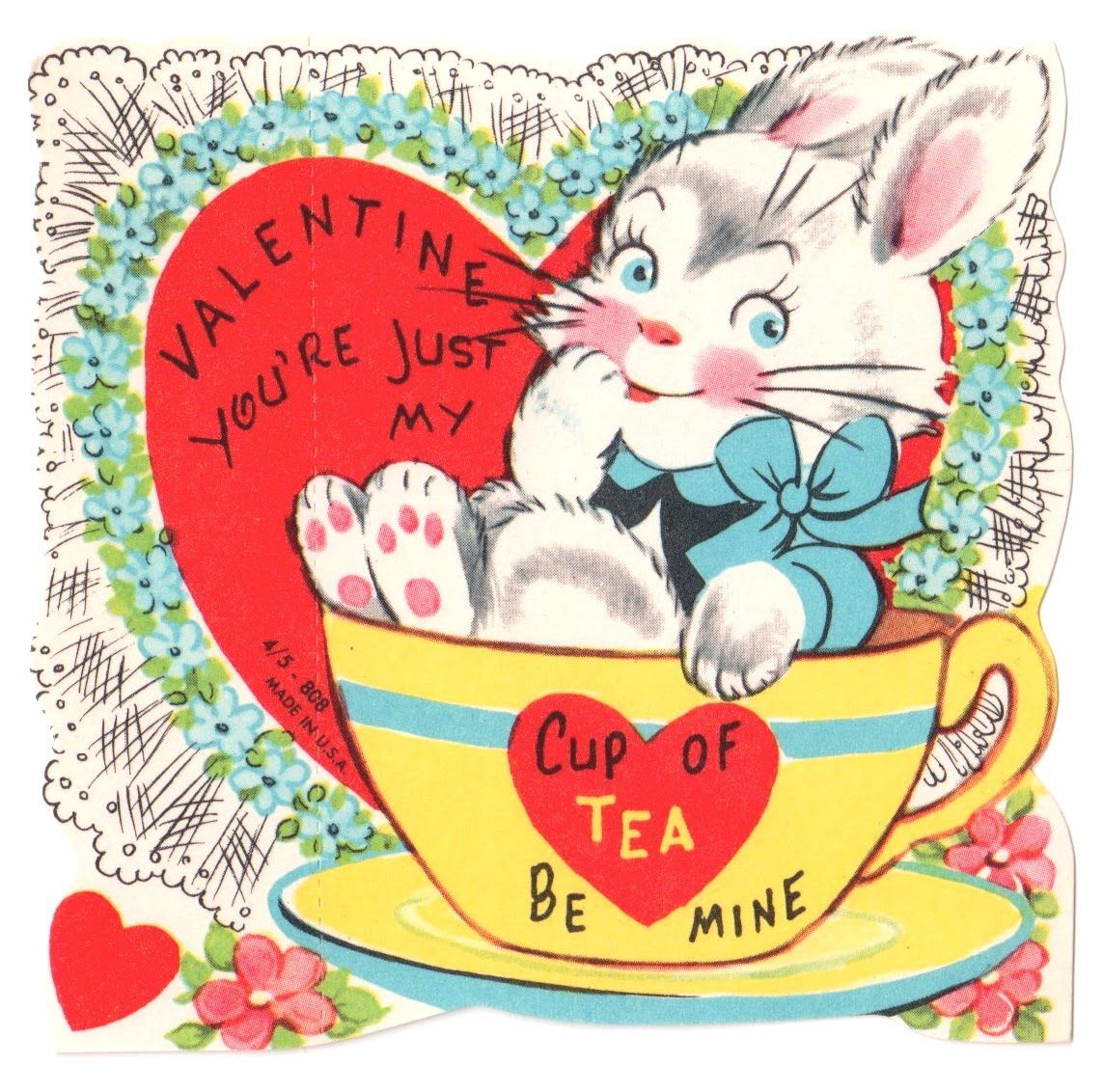 Tea With Friends Valentine S Giveaway Week Day 1 Vintage Valentines Valentines Illustration Valentines Giveaways