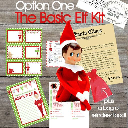 ELF ON THE SHELF KITS+ MORE BY THE LITTLE ELF COMPANY- NEW DESIGNS 4 XMAS 2014!