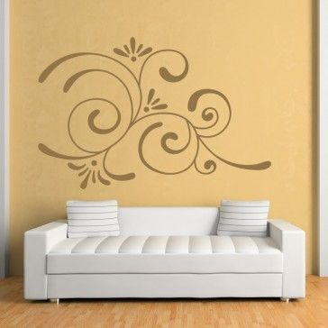 Corner Swirl Embellishment Wall Sticker Decorative Wall Art | wall ...