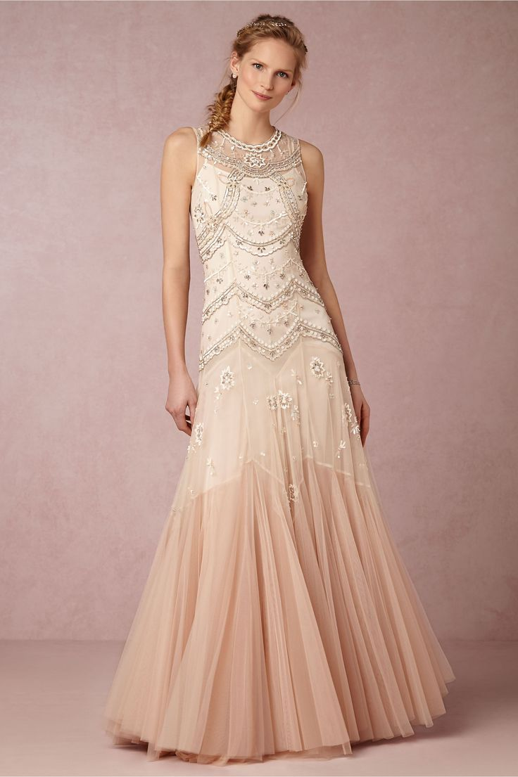 Wedding dresses with lace and tulle details bhldn wedding dresses