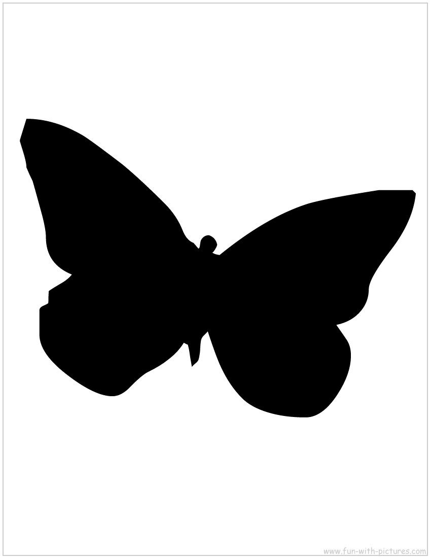 Silhouette Picture - Butterfly Silhouette | Crafts for ...