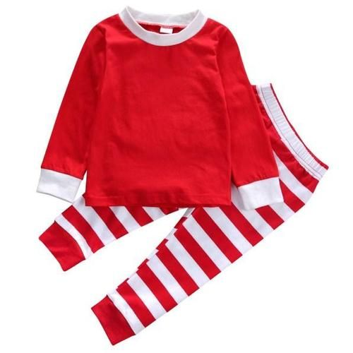 Christmas Casual Striped Sleepwear Christmas Collection