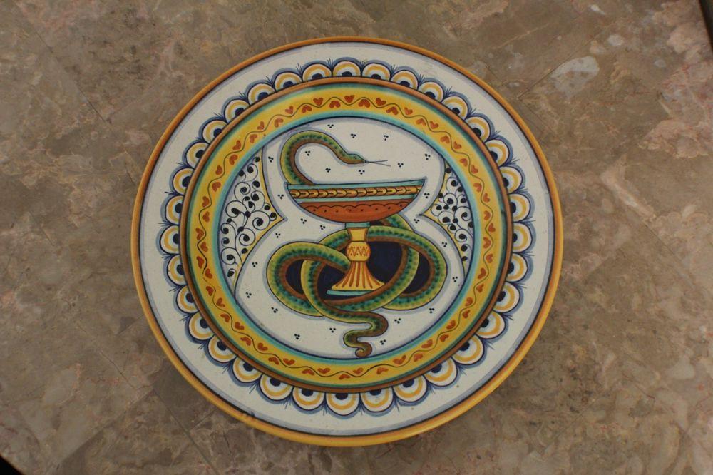 Original Italian Gialletti G P Deruta Hand Painted Ceramic Plate Deruta Hand Painted Ceramics Ceramic Painting Painted Ceramic Plates