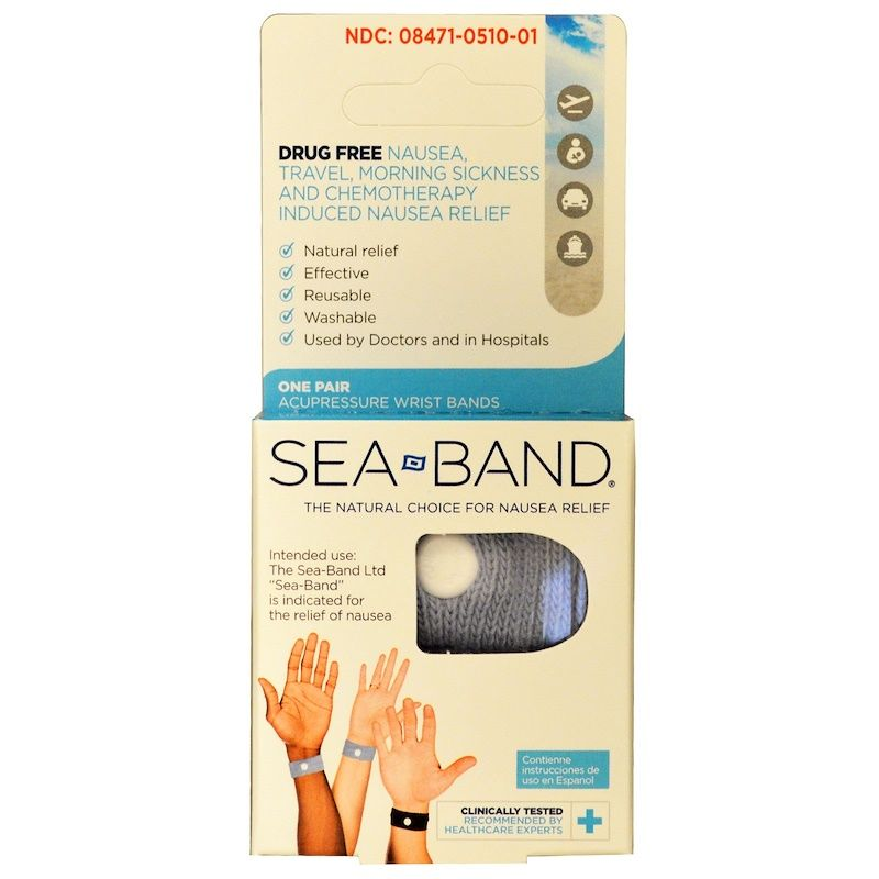 Sea Band, Acupressure Wrist Bands, One Pair (Discontinued ...