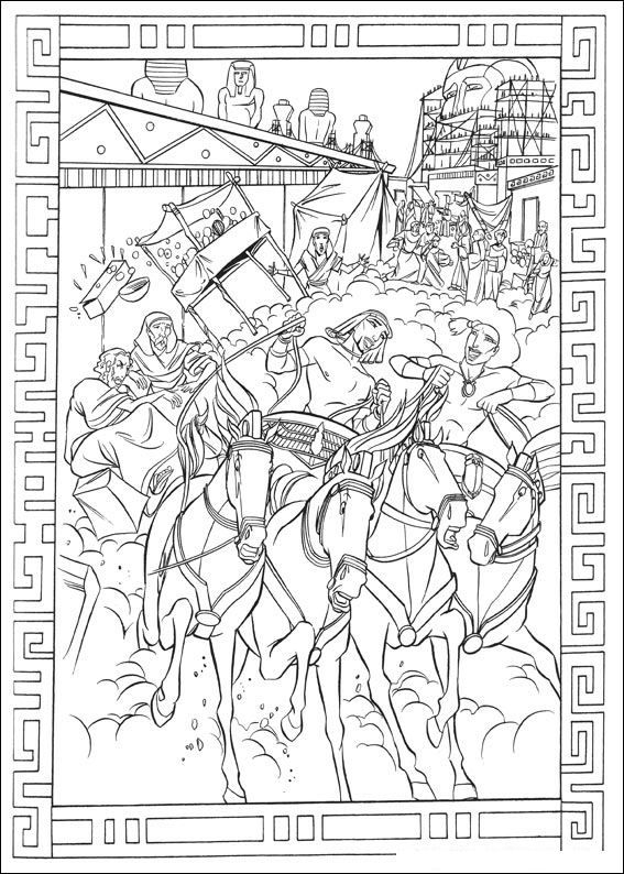 Coloring Page Prince Of Egypt Prince Of Egypt Egipto Dibujo