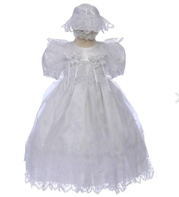 >> Click to Buy << 2016 Baby Infant Superb Baby Girl Christening Gowns Baptism Lace Baby Boy First Communion Dresses 0-24month WITH BONNET #Affiliate