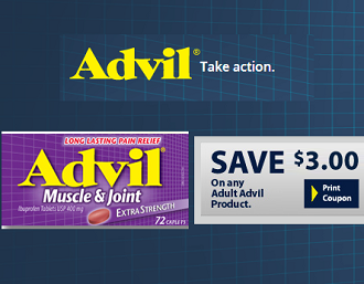 graphic regarding Advil Printable Coupon titled Advil Coupon: Help save $3 off Advil Muscle mass and Joint Discomfort
