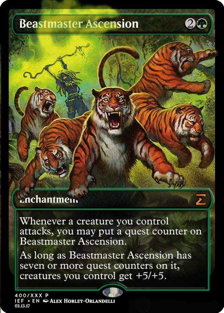MTG Magic Card Beastmaster Ascension Zendikar