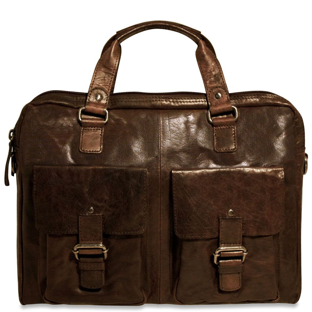 Spikes & Sparrow Collection #74201 Single Gusset Top Zip Briefcase