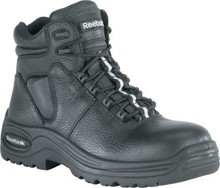 699ae0859d434 Reebok Womens Black Leather 6in WP Athletic Boots Trainex Comp Toe 6 ...