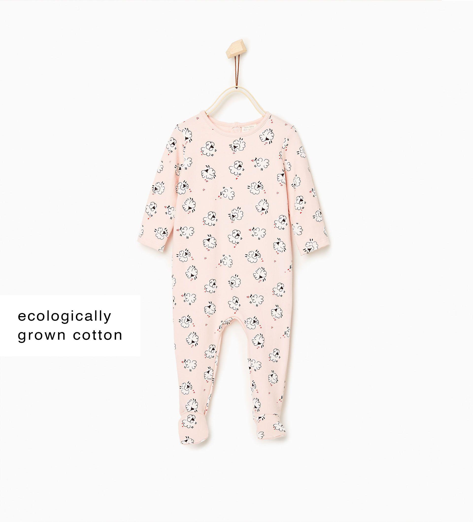 Pyjama molleton à moutons en coton organique