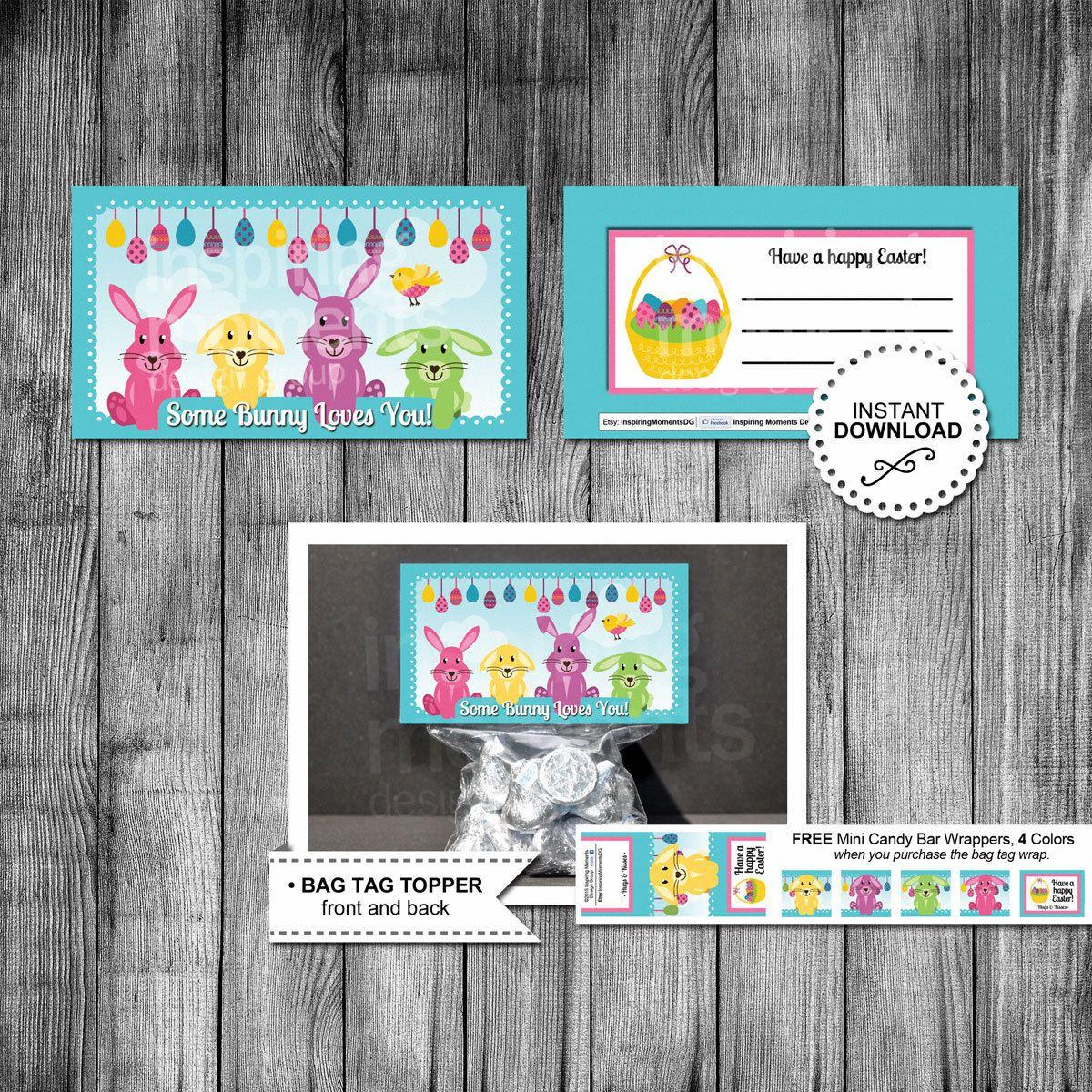 Bunny easter candy bag topper bag tag favor tags classroom bunny easter candy bag topper bag tag favor tags classroom gifts easter negle Choice Image