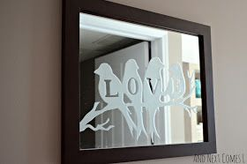 lovebirds etched mirror wall decor pinterest etched mirror