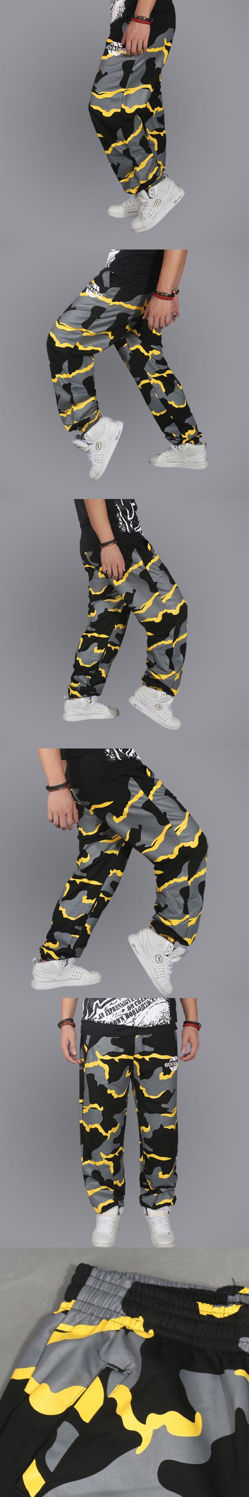 Mens New Loose Hip Hop Joggers Dance Pants Parkour Skateboard Sweatpants Long Pants Boys Pants Mens Full Length Slacks Trousers