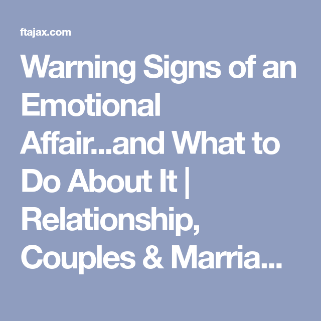 Sexual affairs signs
