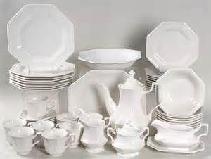 johnson brothers heritage white octagonally shaped rimmed whiteware ...