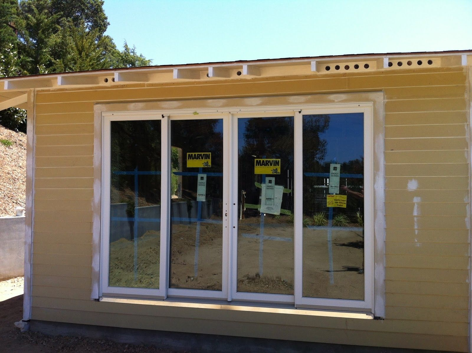 Beau Pella 4 Panel Sliding Glass Doors