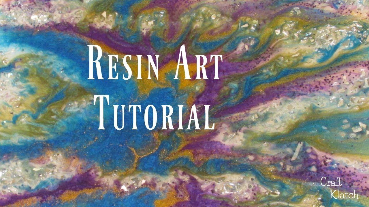 Easy resin art tutorial craft klatch resin crafts