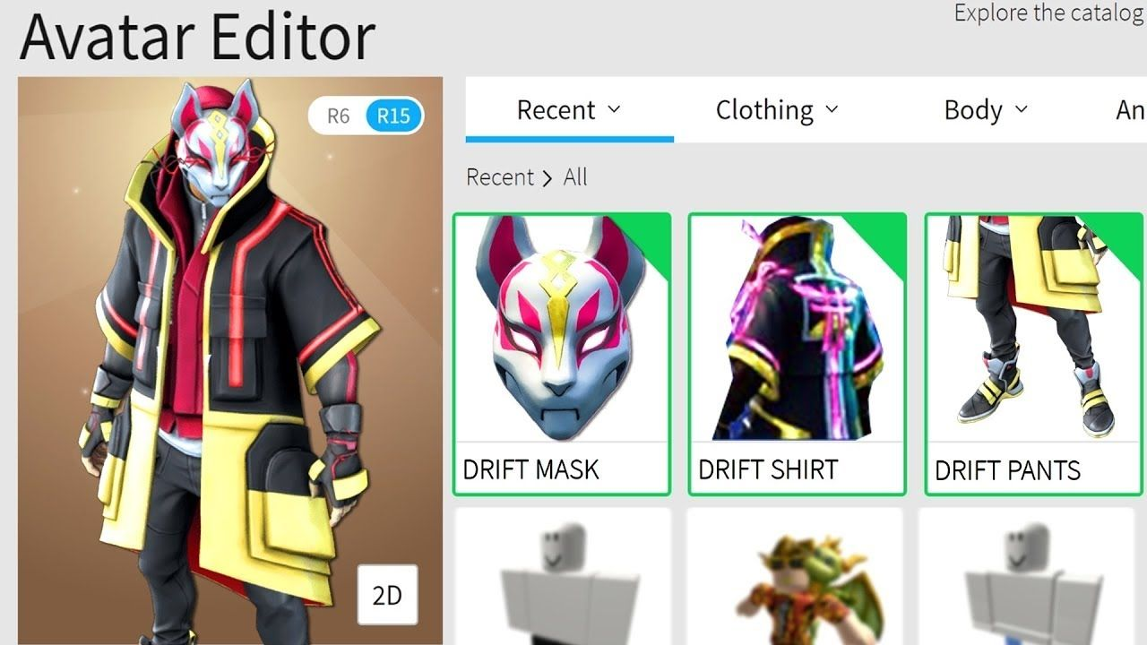 Skin Fortnite 2d Making Drift From Fortnite A Roblox Account Youtube In 2020 Roblox Roblox Roblox What Is Roblox