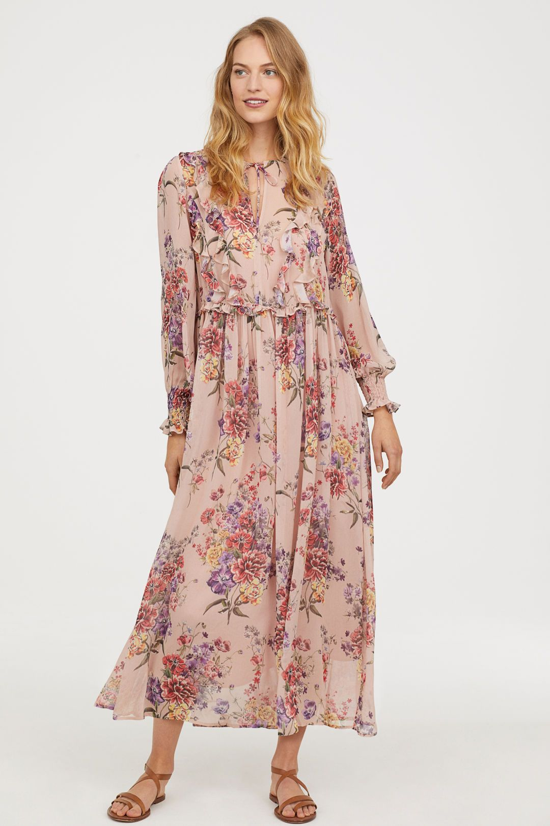 ljusrosa klänning dam
