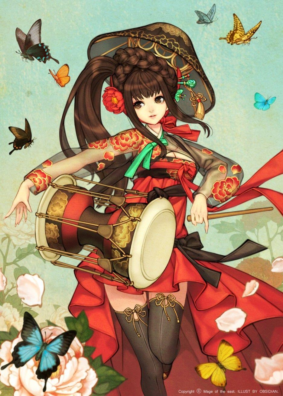 한복 Hanbok Korean traditional clothes[dress] 흑요석South