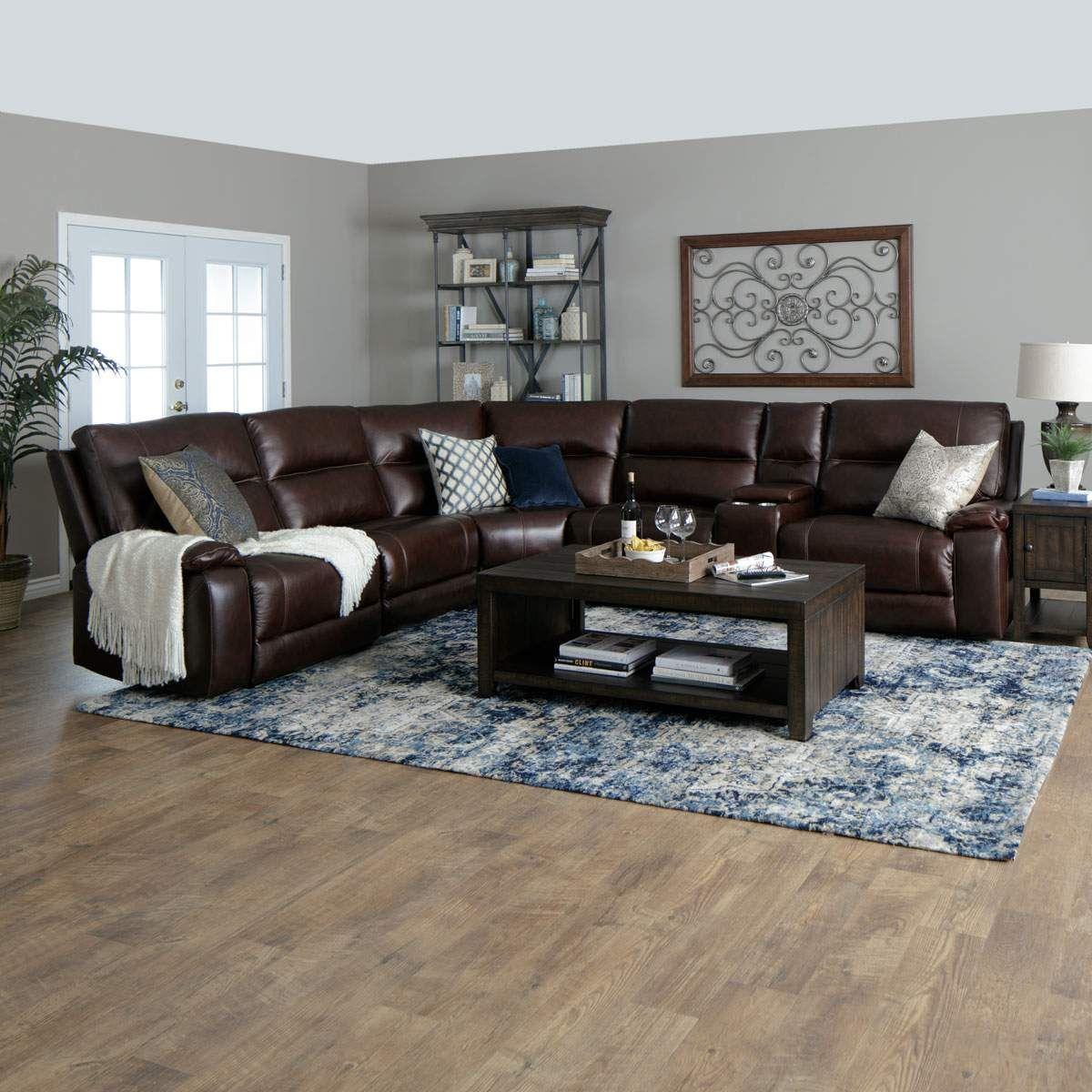 portofino 6pc sectional in brown  jerome's furniture
