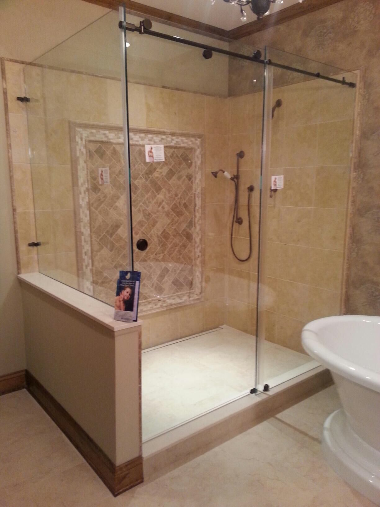 Find this Pin and more on Shower Doors. - Cardinal Skyline With Guardian Showerguard #baileyscustomglass