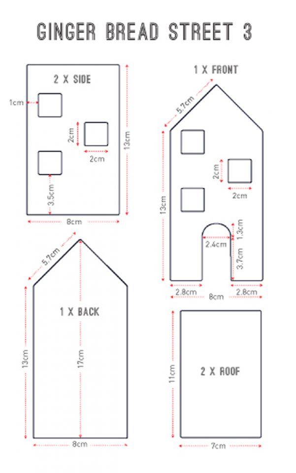 Gingerbread House Templates Gingerbread House Template Gingerbread House Template Printable House Template