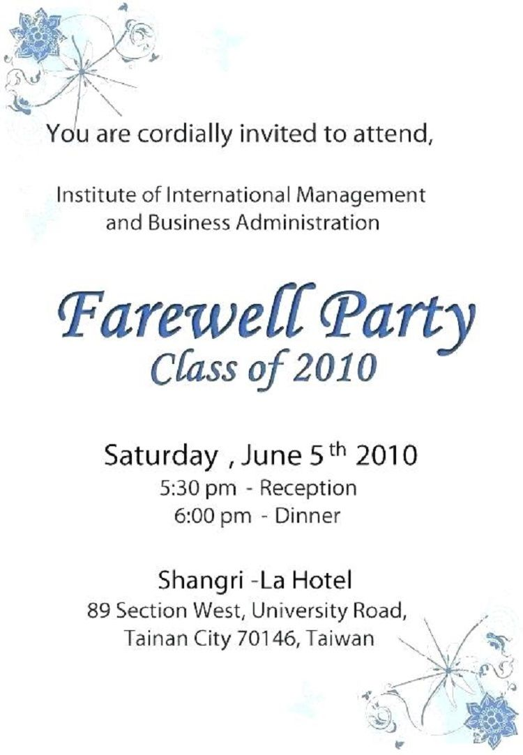Farewell Party Invitation Greeting Check More At Http Invitationareas Com 2018 10 Farewell Party Invit Farewell Party Invitations Farewell Parties Party Card