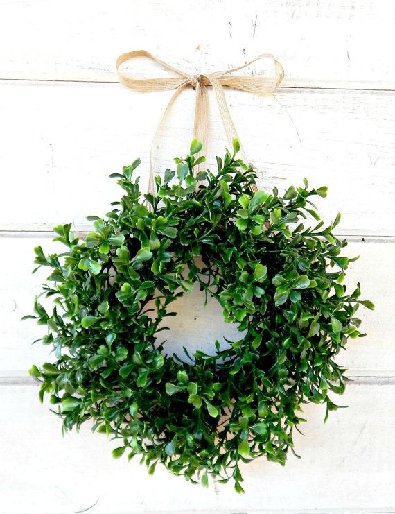 An Adorable Mini Window Wreath This Scented Artificial Boxwood Wreath Can Be Hung In Your Home All Year Long Thi Window Wreath Cottage Wreath Small Wreaths