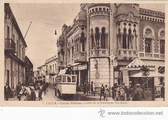 Ceuta Casino Africano Y Calle De La Soberania Nacional En Postal