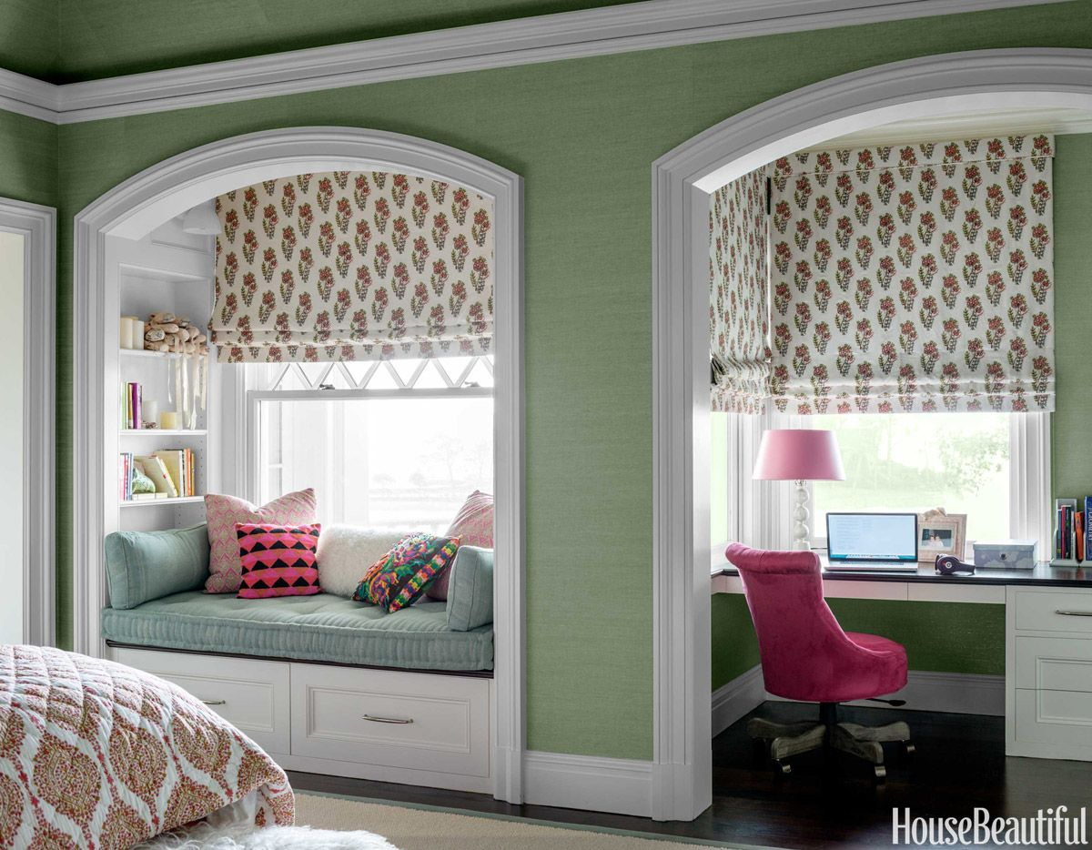 Window nook decorating ideas  why blue and white will never go out of style  cozy interiors and