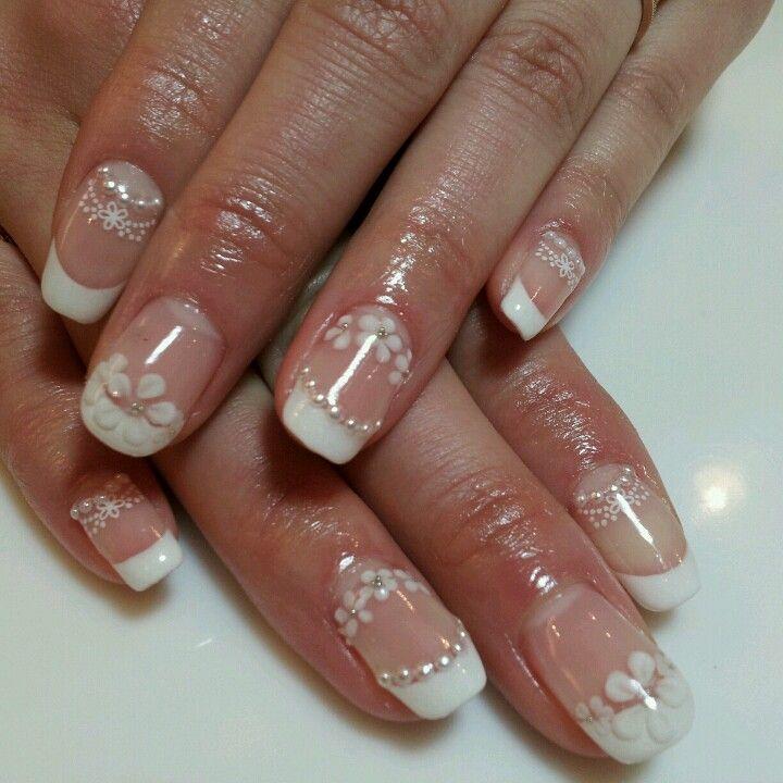 bridal nail   Nails [French & Wedding]   Pinterest   Bridal nails ...