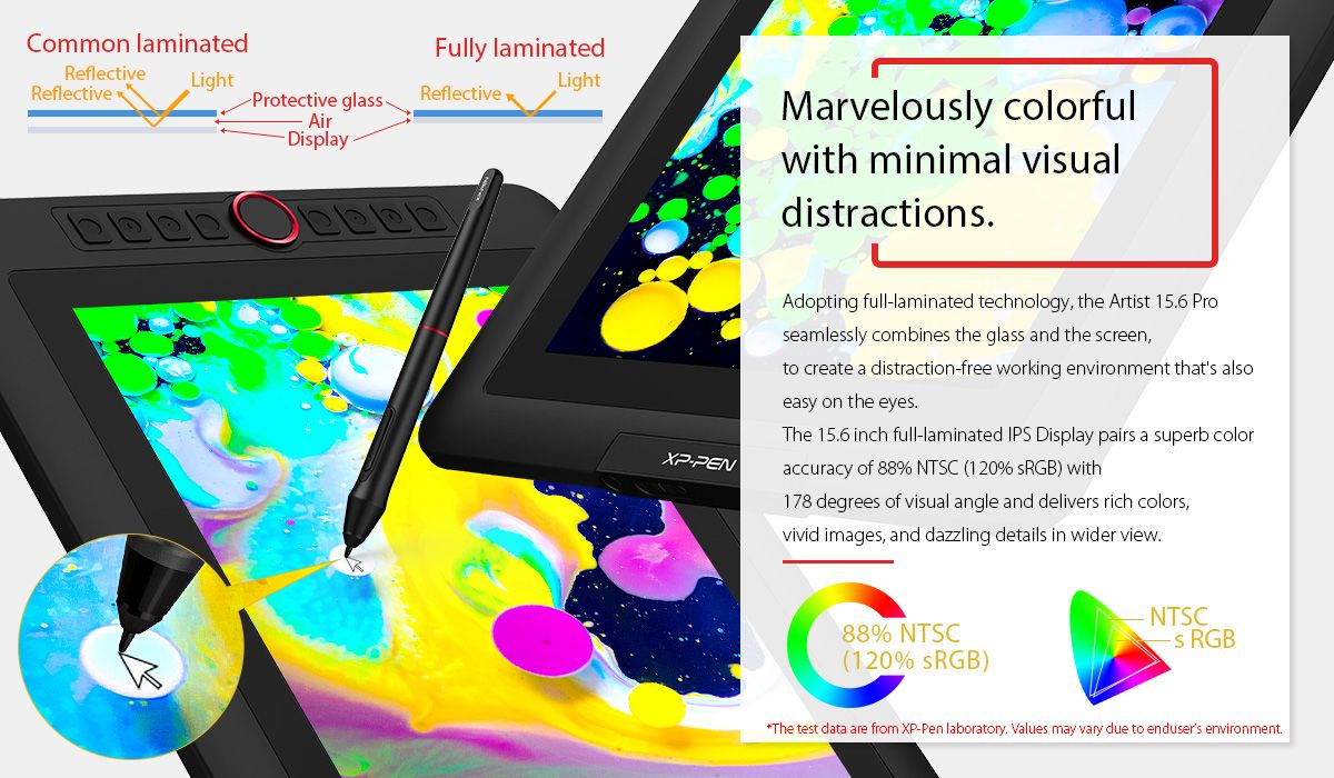 Artist Display 15.6 Pro Drawing tablet, Display, Tablet