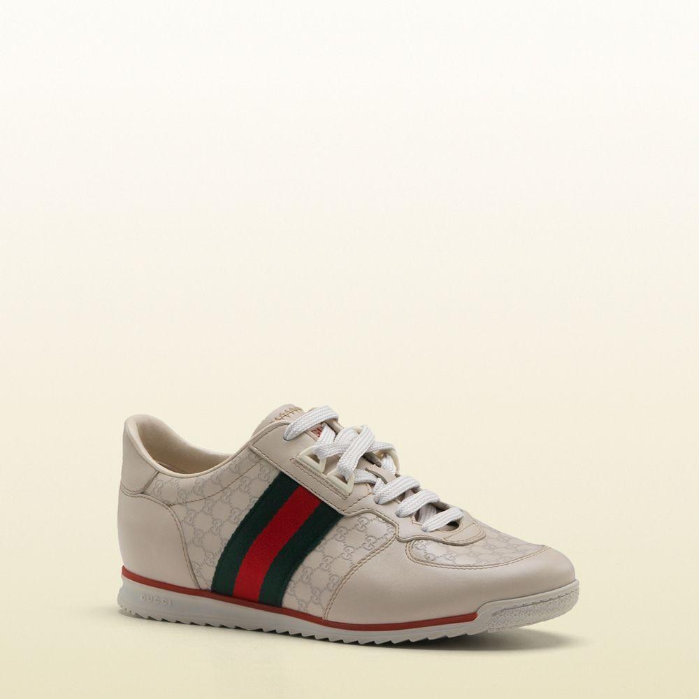 408e1b8f6  GucciWomensShoes Stripe Beige  Sneakers   http   www.dellamoda.com. Visit
