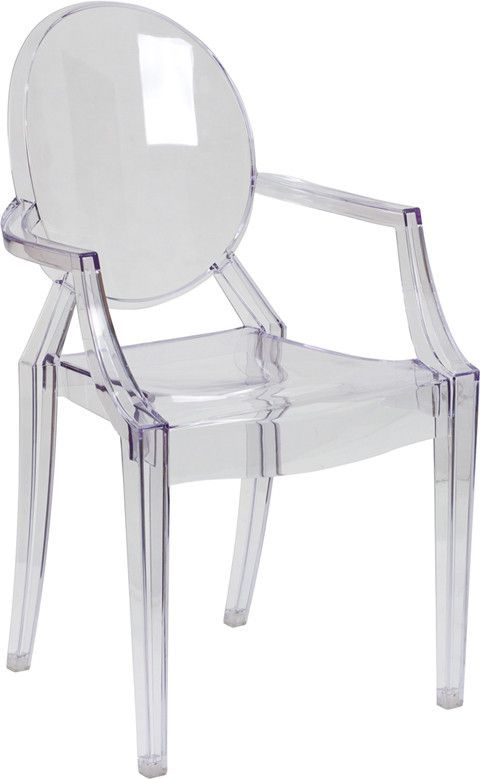 $100 Philippe Starck Louis Ghost Style Transparent Arm Chair