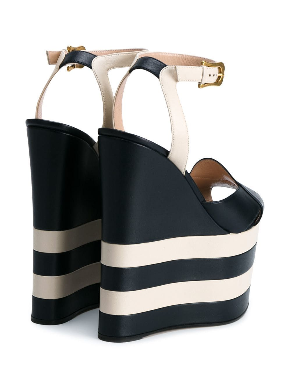 bacb404066 Gucci striped 175 leather platform sandals | Bags & Shoes, A love ...
