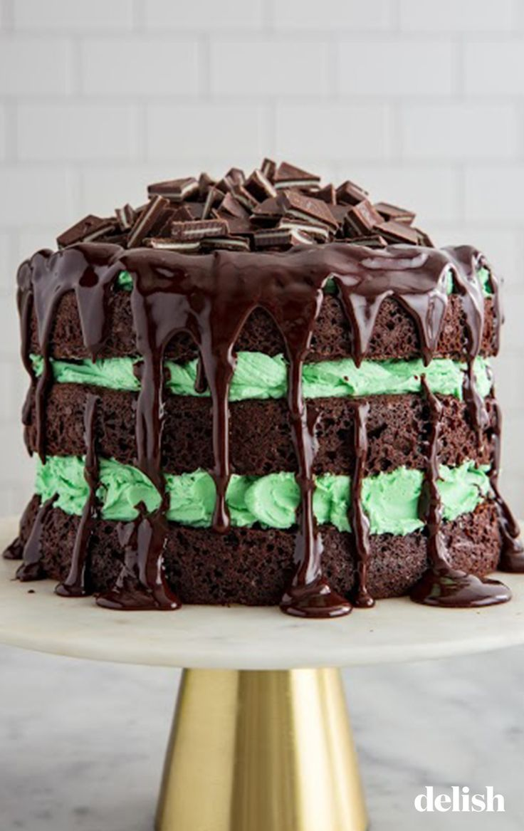Warning: This Andes Chocolate Cake Has Layers Of Fudge AND Mint