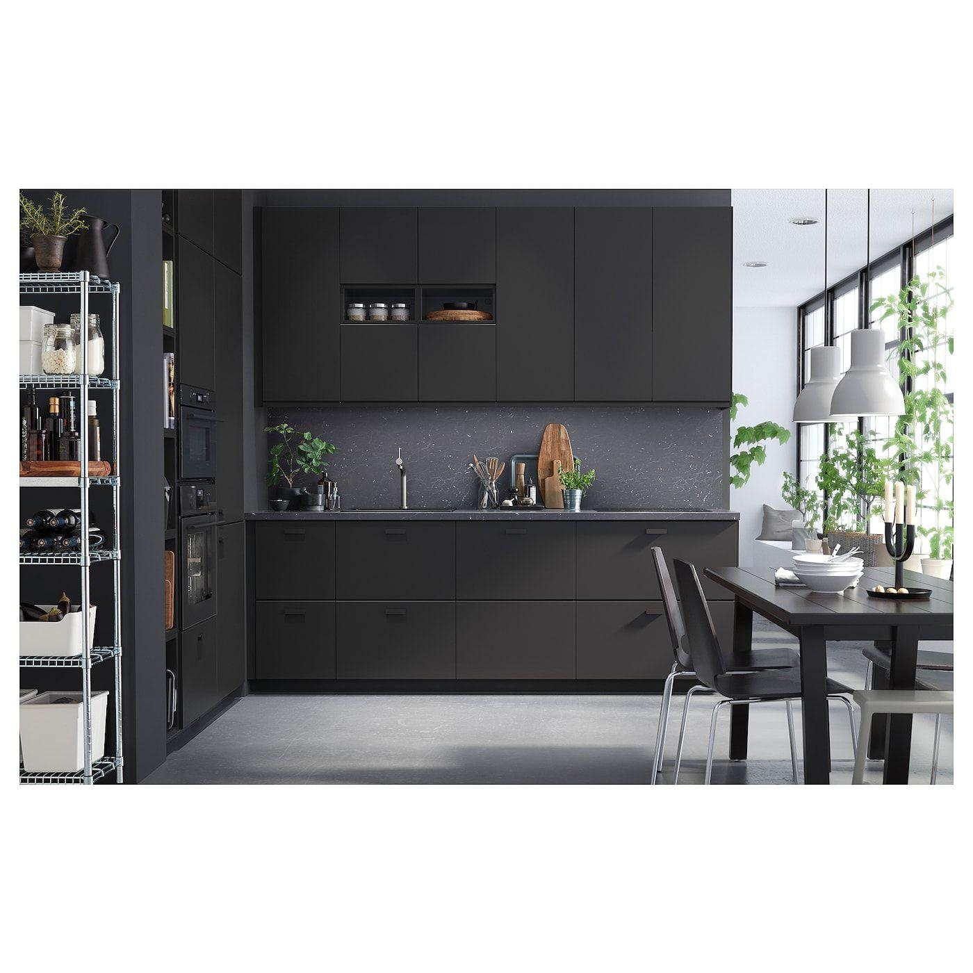 Saljan Countertop Black Marble Effect Laminate 98x1 1 2 Ikea In 2020 Kitchen Cabinet Remodel Black Ikea Kitchen Grey Kitchen Designs