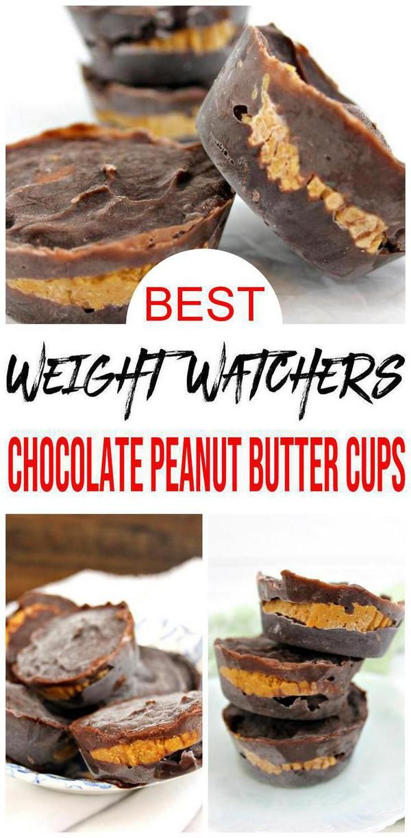 2 Ingredient Weight Watchers Desserts – The BEST Weight Watchers Recipe – Chocolate Peanut Butter Cups {Easy – No Bake}