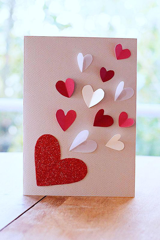 carte de saint valentin 5 diy realises avec amour