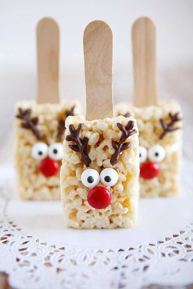 holidays reindeer rice krispies the cutest treat you will see all christmas season make this recipe and deliver them to family and friends