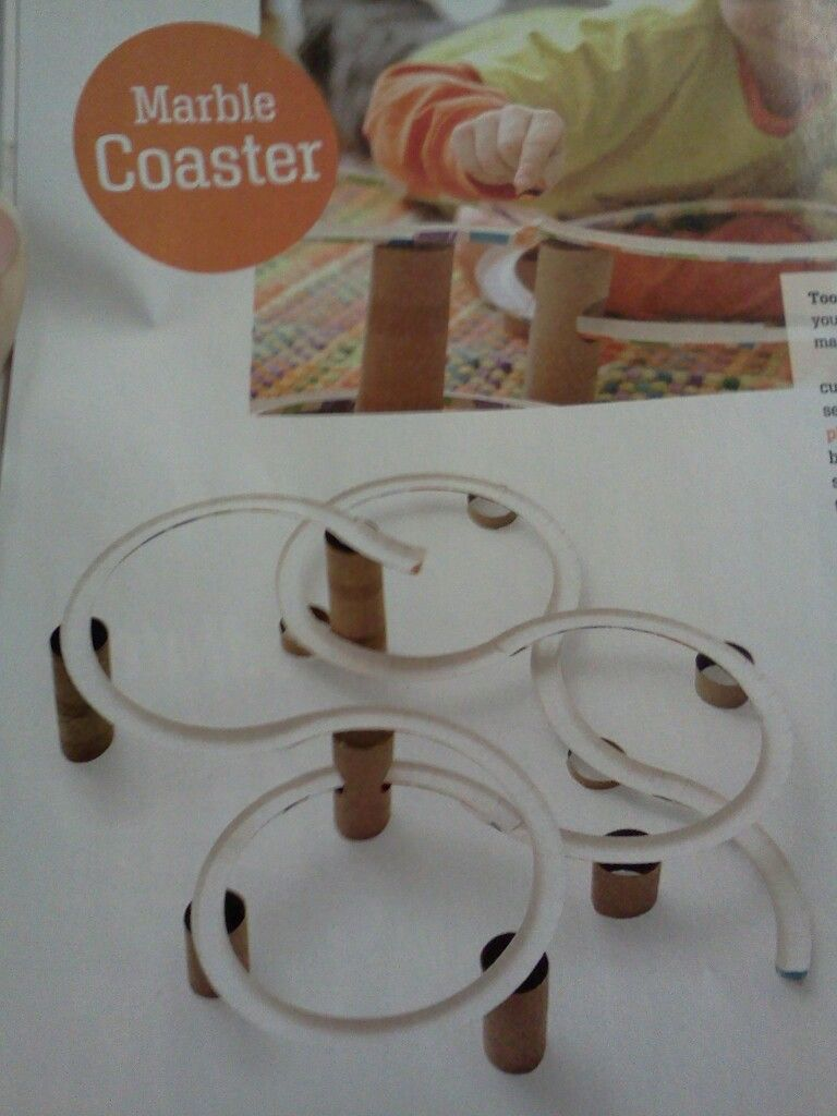 Paper plate and toilet paper roll marble roller coaster! Kinetic ...