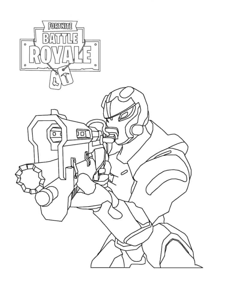 Free Printable Fortnite Coloring Pages Soldier Blake Birthday