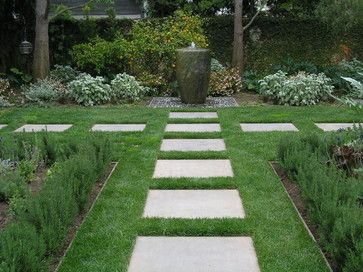 Square Stepping Stones Design Ideas Pictures Remodel And Decor Garden Stepping Stones Stone Landscaping Beautiful Gardens Landscape