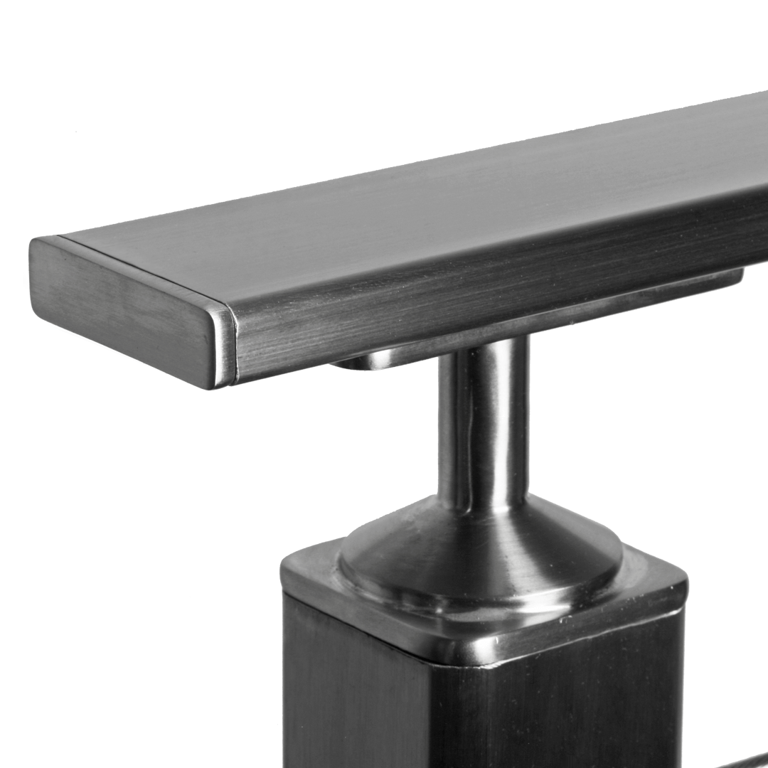 Best Flat Rectangular Stainless Steel End Cap For Toprail 640 x 480