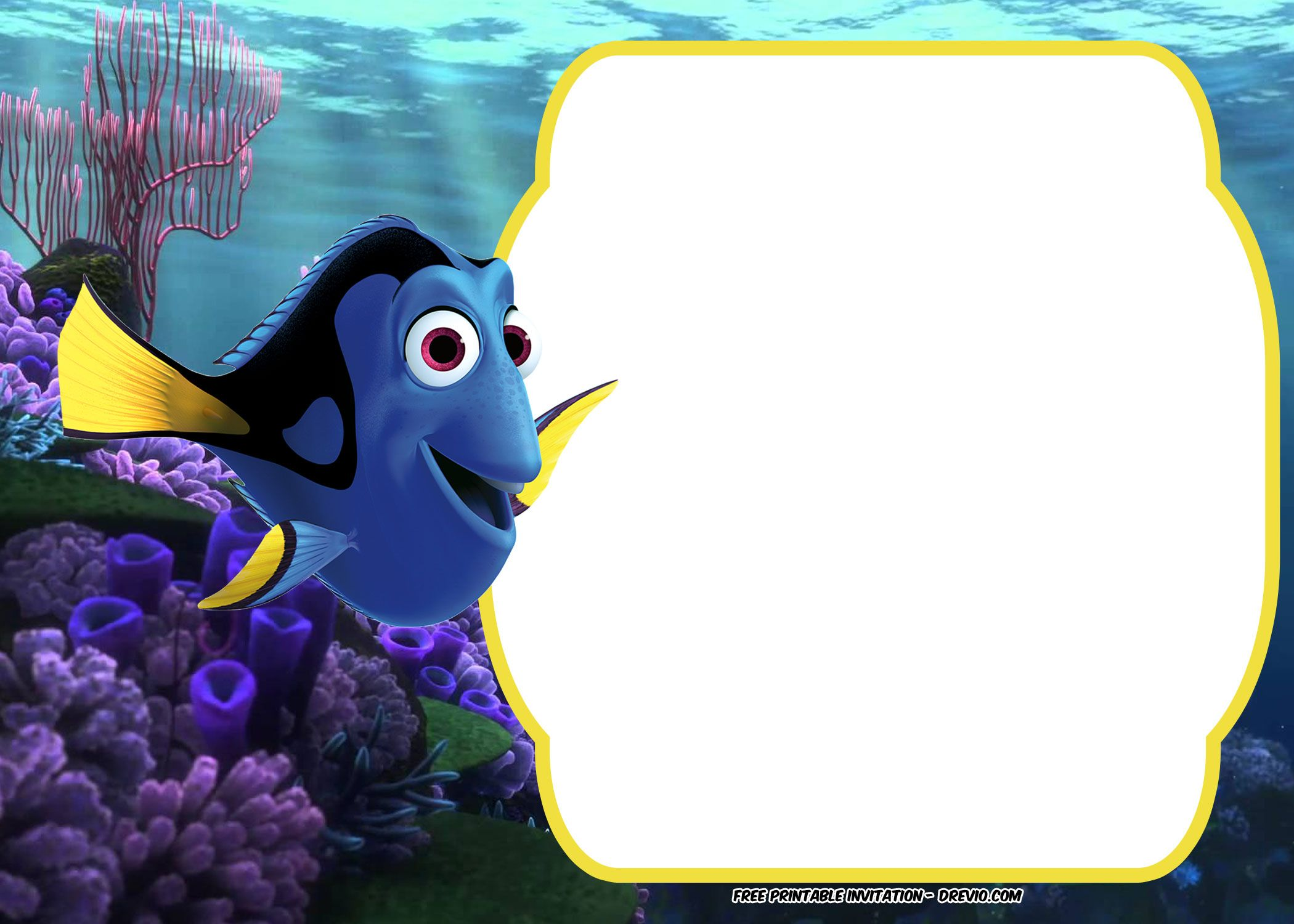 Get FREE Finding Dory Baby Shower Invitation