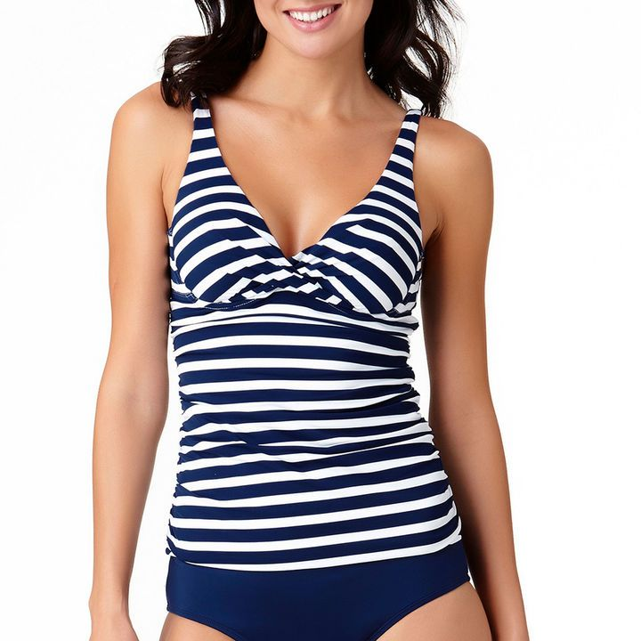 949c5ddb1929d Liz Claiborne Stripe Tankini Swimsuit Top | Products | Striped ...